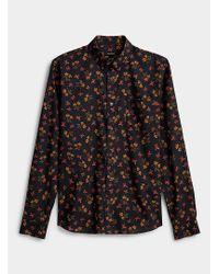 Matíníque Black Dark Floral Shirt for men