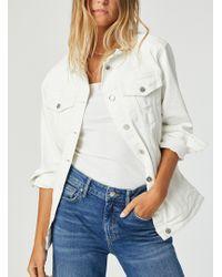 Mavi Distressed White Jill Denim Jacket