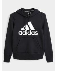 Adidas Black Logo Hoodie