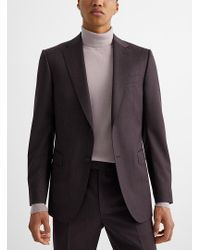 Z Zegna Red Purple Wool Suit for men