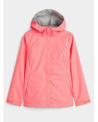 Columbia Pink Arcadia Packable Rain Jacket
