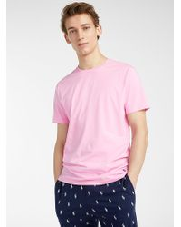 Polo Ralph Lauren Pink Solid Lounge T for men