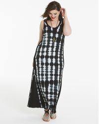 Simply Be - Black Tie Dye Maxi Dress - Lyst