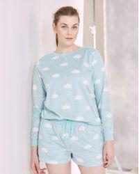 Simply Be Blue Pretty Secrets Shortie Pyjama Set