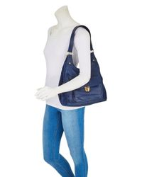 Simply Be - Blue Leather Hobo Bag - Lyst