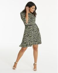 Simply Be - Multicolor Oasis Ditsy Frill Sleeve Dress - Lyst
