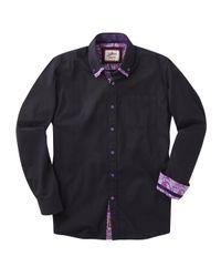 Simply Be - Black Joe Browns Cracking Collar Shirt for Men - Lyst
