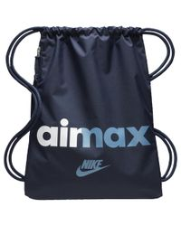 Lyst - Nike Heritage Gymsack in Blue for Men 65db9444508a9