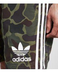 Adidas Originals Multicolor Trefoil Woven Shorts for men