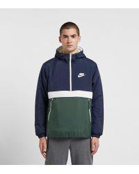 Nike Synthetic-Fill Half-Zip Jacket in Blue für Herren