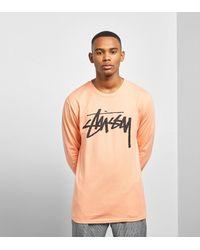T-Shirt Manches Longues Old Stock Stussy pour homme en coloris Orange