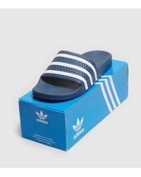 Adidas Originals Blue Adilette Slides Women's