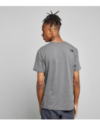 The North Face Gray Fine Box T-shirt for men