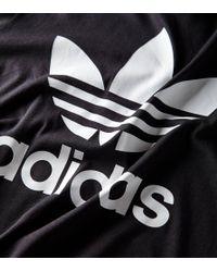 Adidas Originals Black Trefoil T-shirt for men
