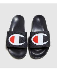 Champion - Black Slides Women's - Lyst