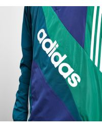 Adidas Originals - Blue Linear Windbreaker Jacket - Size? Exclusive for Men - Lyst