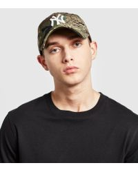 KTZ - Green 9twenty Patchwork Leather Strapback Cap for Men - Lyst