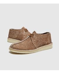 Clarks Brown Desert Trek Hairy Suede for men