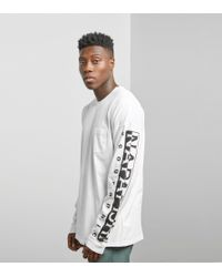 Napapijri - White Long Sleeved Sabah T-shirt for Men - Lyst