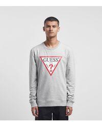 Triangle Logo Sweatshirt Guess de hombre de color Gray