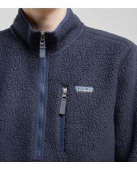 Patagonia Blue Retro Pile Fleece Pullover for men
