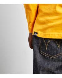 The North Face Orange Long-sleeved Fine T-shirt for men