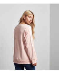 Adidas Originals Pink 3 Stripes A-line Sweatshirt