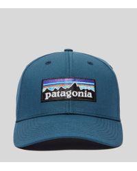 Patagonia - Blue P-6 Logo Curved Cap for Men - Lyst