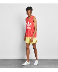 Adidas Originals Yellow Cali Football Shorts