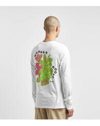 Post Modern Roots Long Sleeve T-Shirt di Stussy in White da Uomo