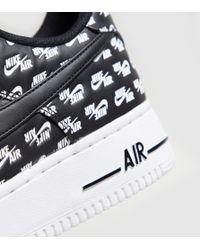 Nike Black Air Force 1 'script' for men