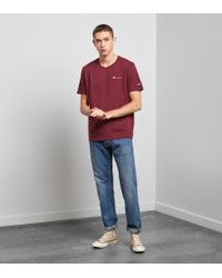 Champion - Red Crew T-shirt - Size? Exclusive for Men - Lyst