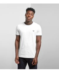 Fred Perry - White Twin Tipped T-shirt for Men - Lyst