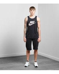Nike - Black Ace Logo Tank for Men - Lyst