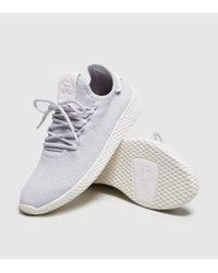 d3cd61030446d Lyst - adidas Originals Pharrell Williams Tennis Hu Trainers Women s ...