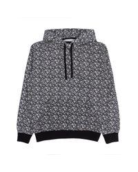 Stussy Gray Vintage Bones Hooded Sweatshirt for men
