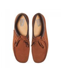 Clarks - Wallabee Brown for Men - Lyst