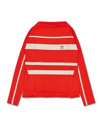 Adidas Originals - Red Wmns Ls T-shirt - Lyst