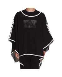Pigalle - Black Mesh Poncho - Lyst