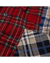 Needles - Red 7 Cuts Flannel Shirt - Lyst