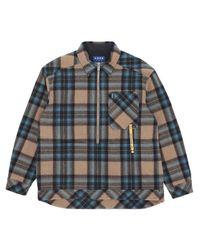 ADER ERROR Blue Anorak Styled Check Shirt for men