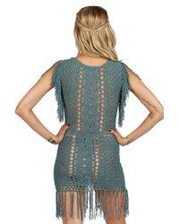 Cleobella - Blue Amei Dress In Vintage Jade - Lyst