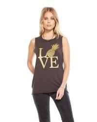 Chaser Brand Black Pineapple Love Tee