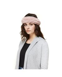 SOIA & KYO Multicolor Jaleh Faux Fur Elastic Headband In Quartz