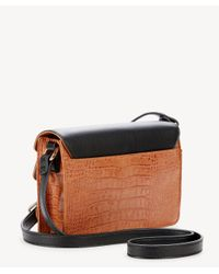 Sole Society Multicolor Draya Croc Embossed Crossbody