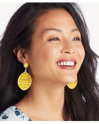 Sole Society - Yellow Toscana Beaded Statement Earring - Lyst