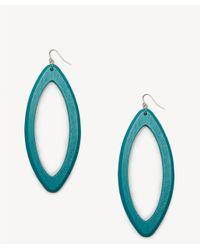 Sole Society - Blue Wooden Duster Earrings - Lyst