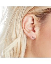 Sole Society Black Plated Earring Set