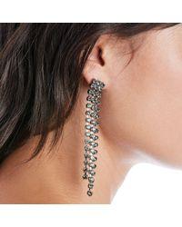Sole Society Metallic Crystal Drop Earrings