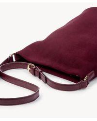 Sole Society Purple Lana Genuine Suede Slouchy Crossbody
